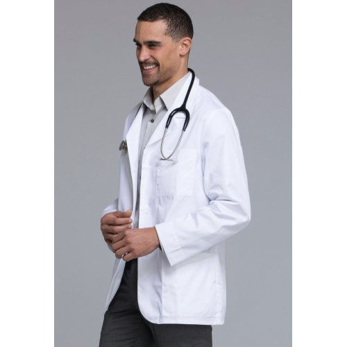 "31"" Men's Consultation Antimicrobial Lab Coat in White"