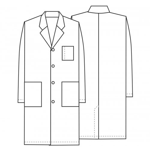 """40"""" Unisex Antimicrobial Lab Coat in White"""