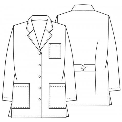 "32"" Antimicrobial/Antifluid Lab Coat in White"