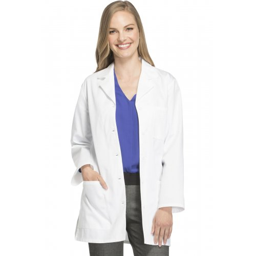 """32"""" Antimicrobial Lab Coat in White"""
