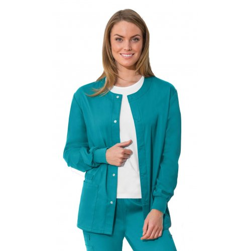 Antimicrobial Unisex Snap Front Warm-up Jacket