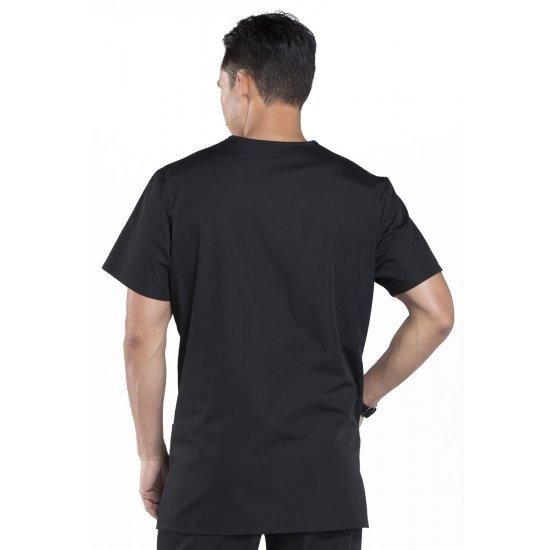 Unisex V-Neck Top in Black