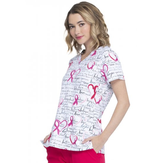 V-Neck Top in Love Amour